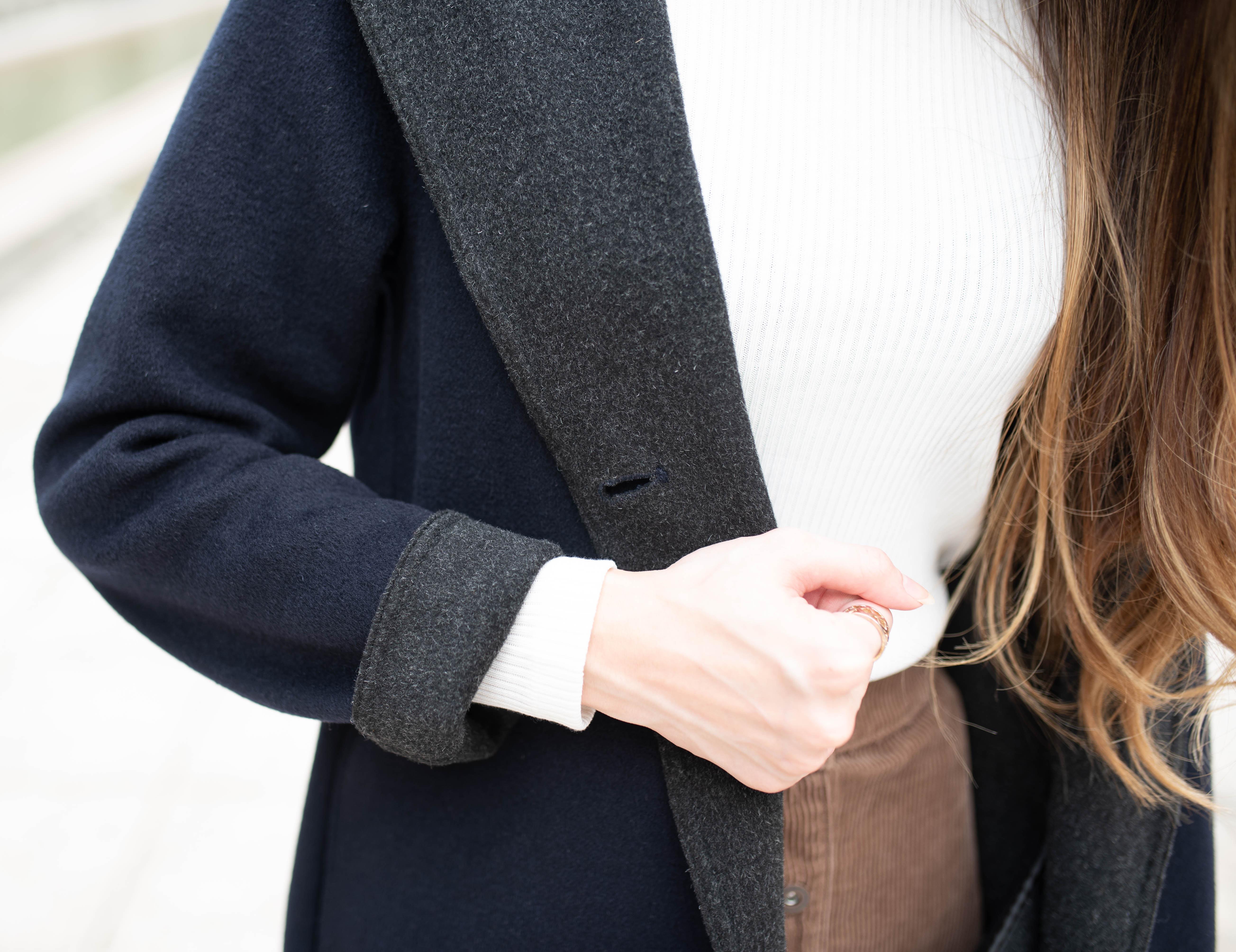 雙面織紋連帽大衣3
