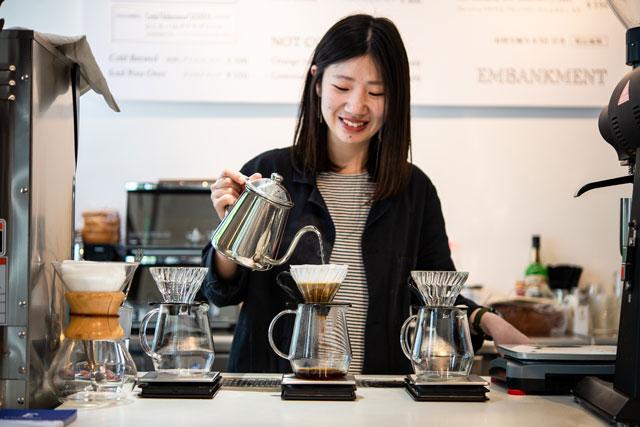 大阪EMBANKMENT COFFEE店內