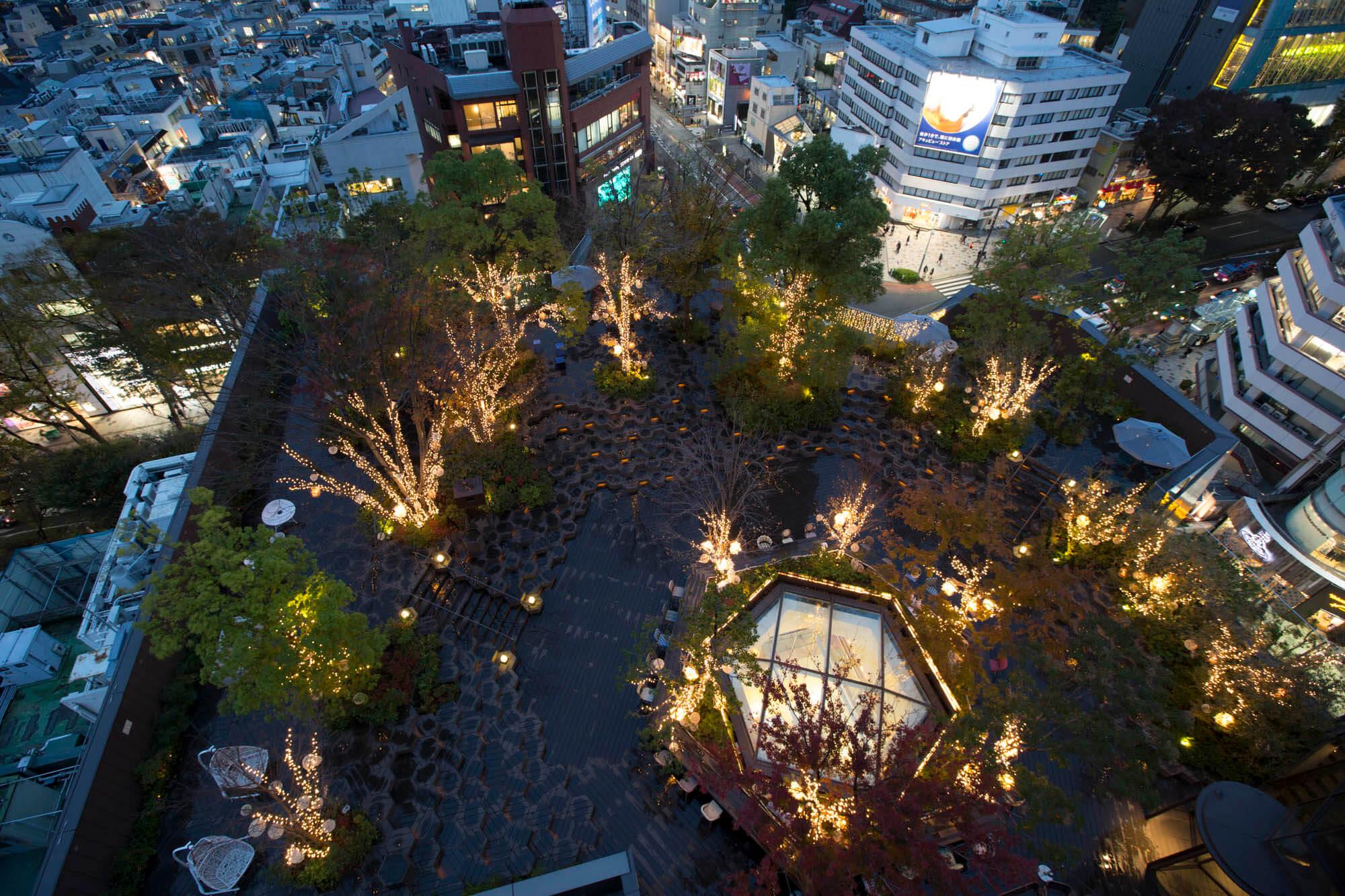 東急PLAZA表參道原宿空中花園「表原之森」舉辦彩燈活動 燈飾、表參道、