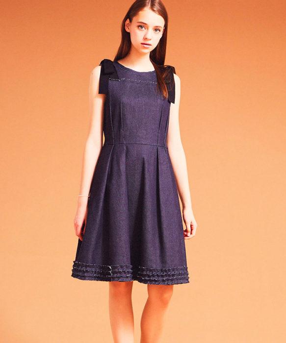 LANVIN-en-bleu-法國品牌日本限定專屬品牌牛仔洋裝