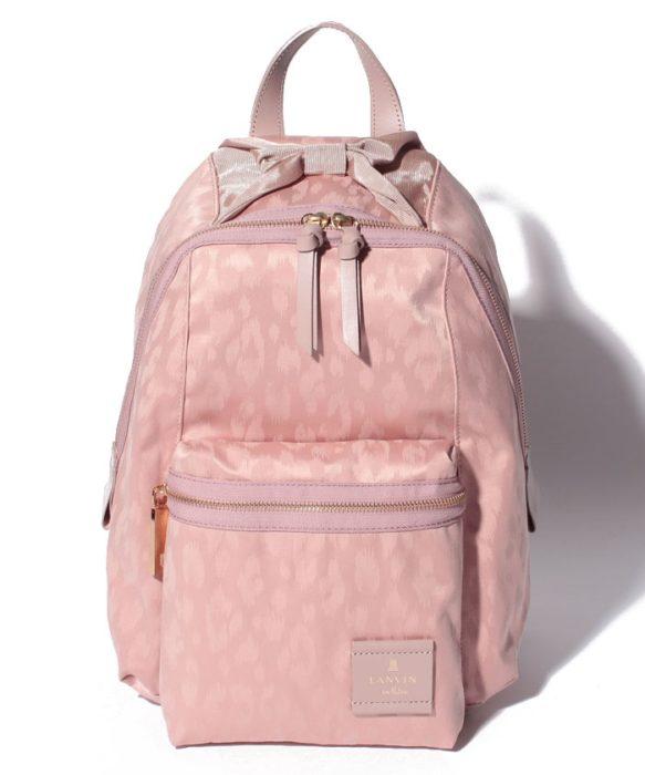 LANVIN-en-bleu-法國品牌日本限定專屬品牌粉紅後背包