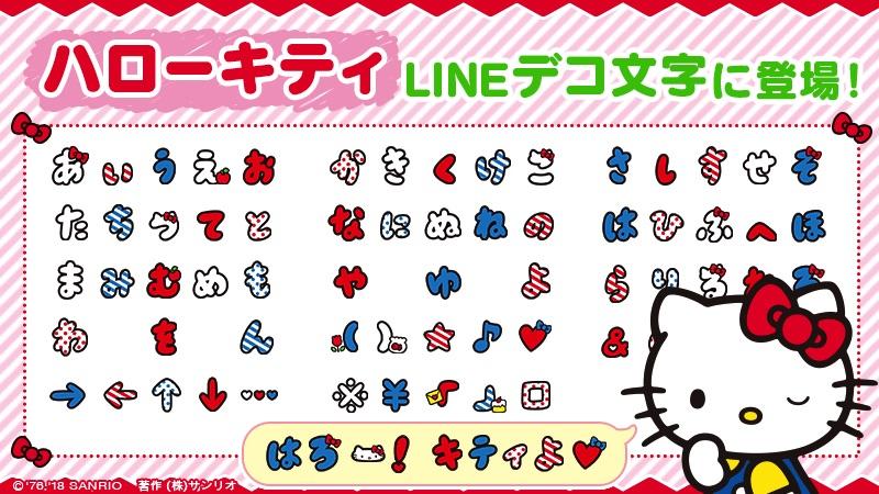 在LINE上用Kitty字來交談吧!「Hello Kitty 文字貼」開始發售 凱蒂猫、
