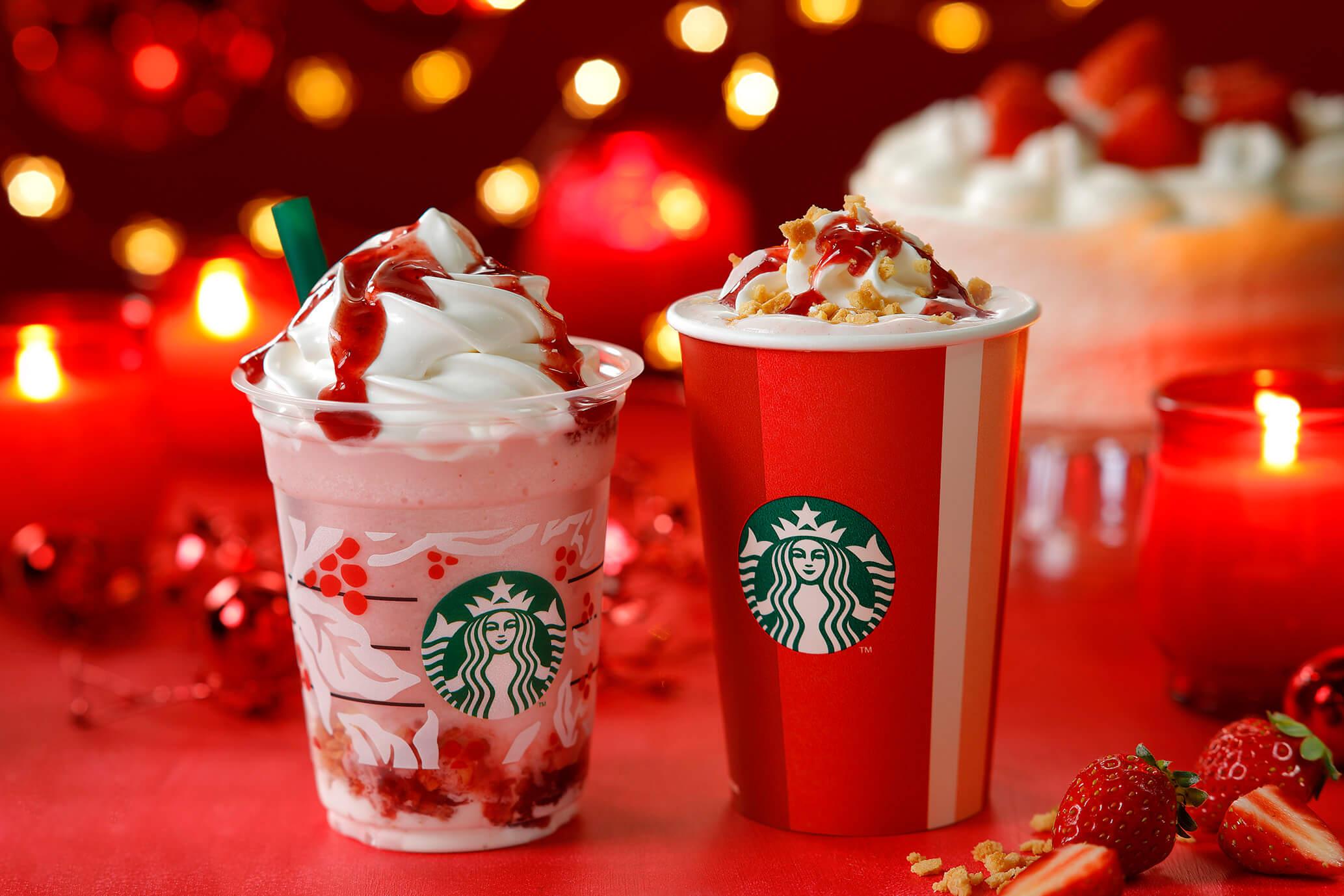 星巴克聖誕節限定草莓蛋糕星冰樂登場 星巴克、聖誕節、