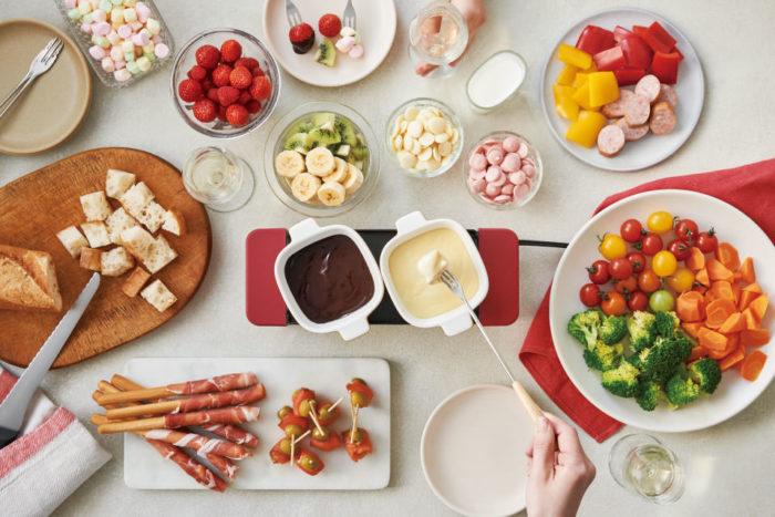 recolte 麗克特 Raclette and Fondue Maker Melt 拉可雷特起士鍋巧克力鍋使用示意