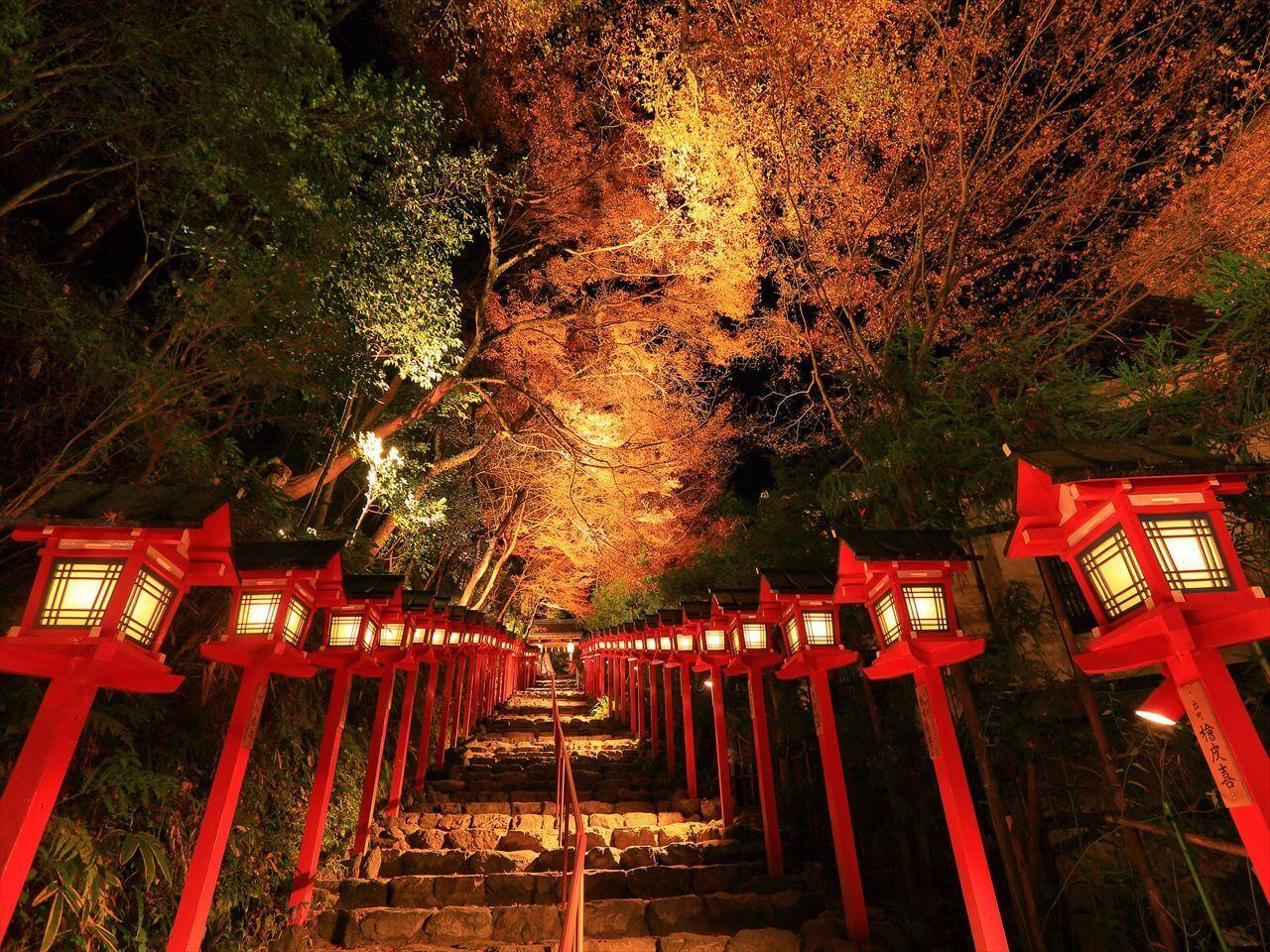 京都 貴船神社紅葉點燈!「京之奥座敷・貴船紅葉燈籠」活動開跑 在京都、紅葉_、