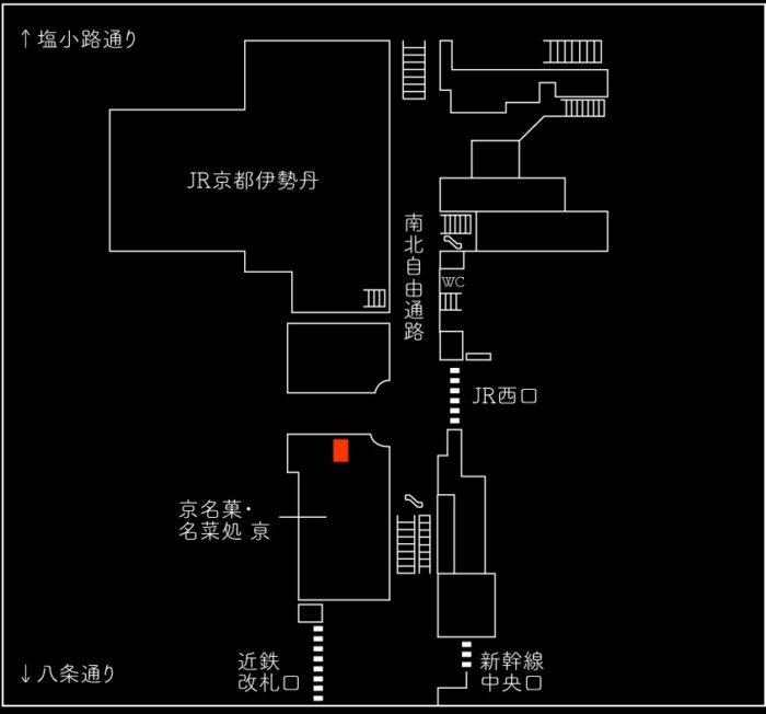 京都車站店位置圖