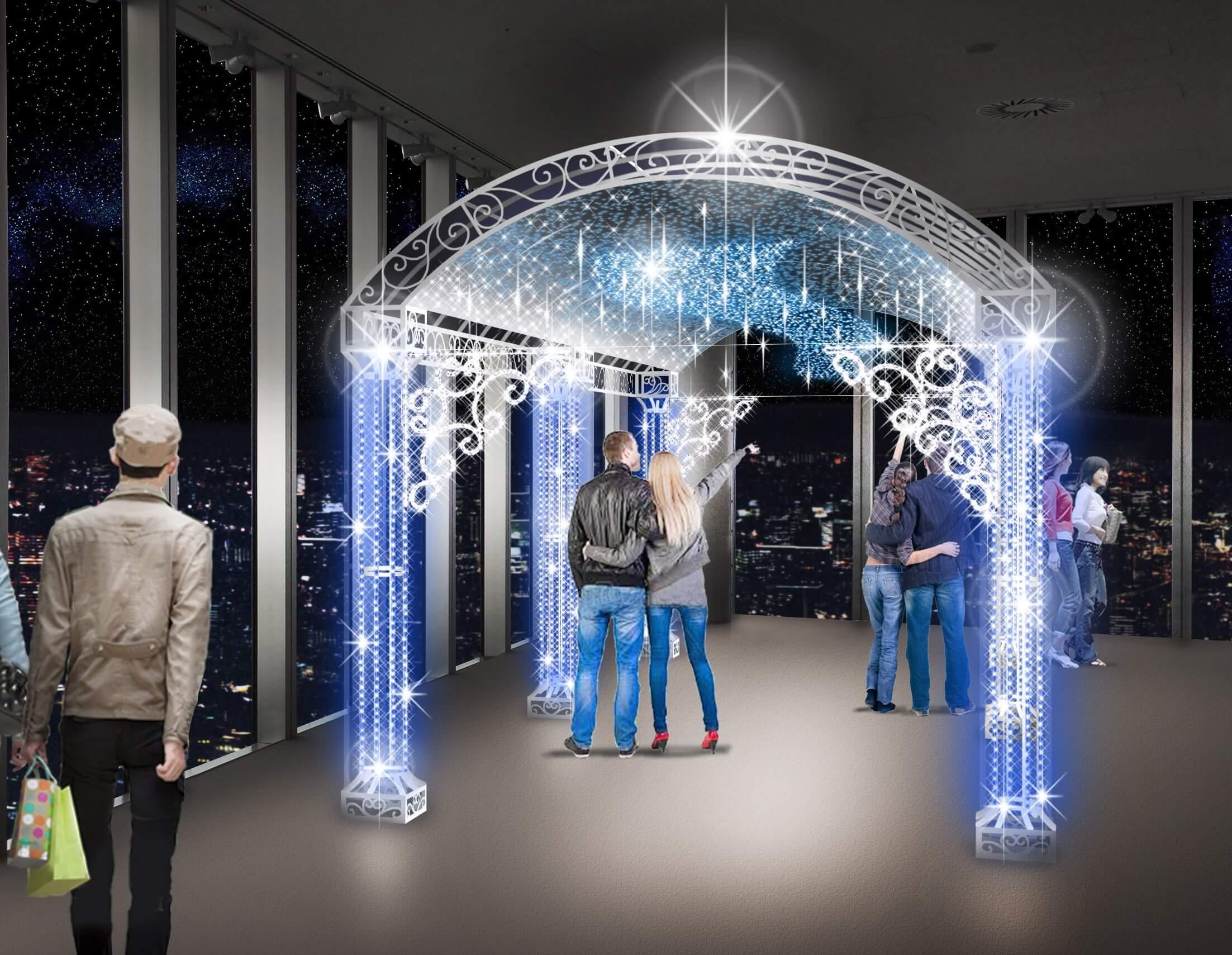 大阪「阿倍野HARUKAS 天空燈展 2018」活動登場 在大阪、燈飾、