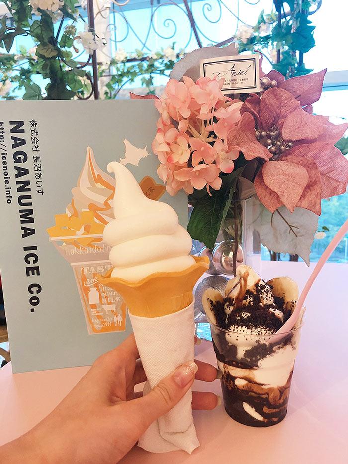 冰淇淋與聖代實體照