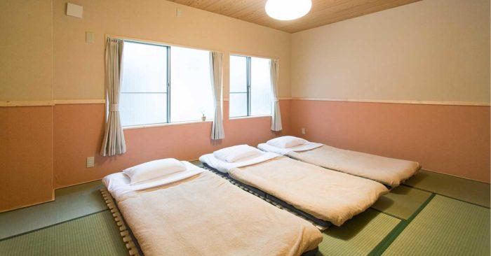 北海道札幌平價住宿GUEST House Yuyu 雪結三人房和式個室