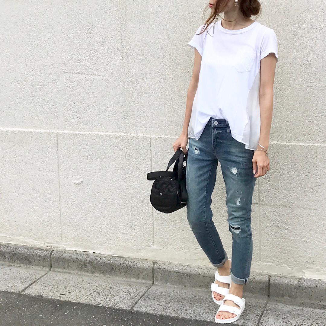 搭配牛仔長褲呈現成熟風味! soliabe5787