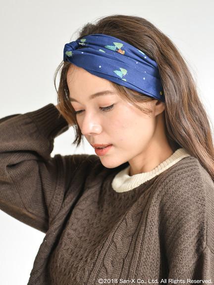 earth music&ecology X Rilakkumaリラックマ15週年紀念商品-頭巾
