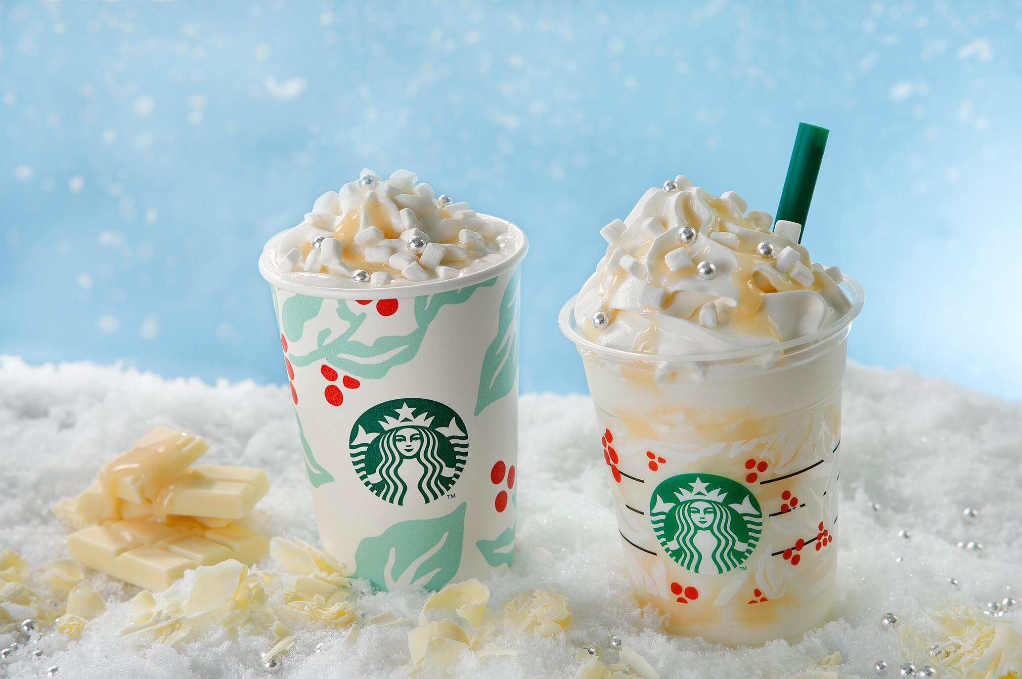 星巴克如白雪般的白巧克力星冰樂登場 星巴克、