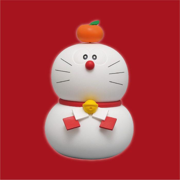 哆啦A夢新年鏡餅造型公仔
