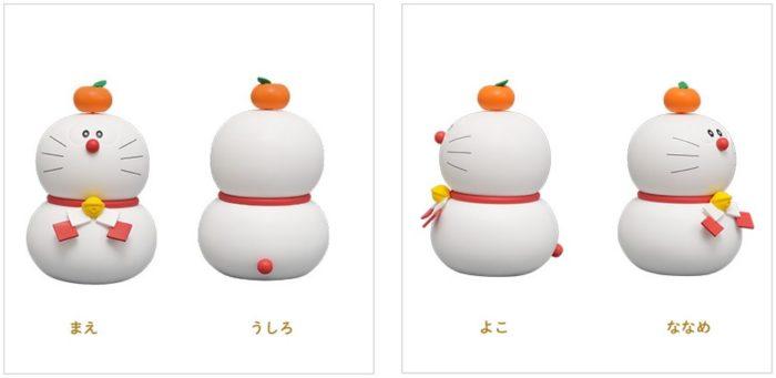 哆啦A夢新年鏡餅造型公仔細部