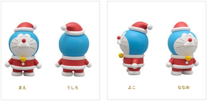 聖誕哆啦A夢人形公仔細部