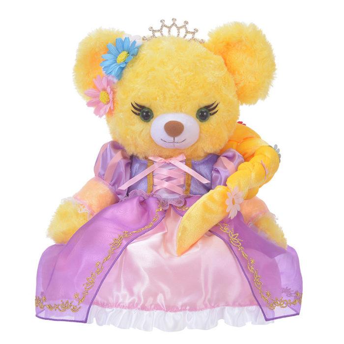 日本迪士尼商店大學熊UniBearsity公主熊PrincessBear_魔法奇緣長髮公主樂佩禮服