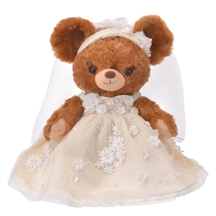 日本迪士尼商店大學熊UniBearsity公主熊PrincessBear_魔法奇緣長髮公主THE HANY禮服