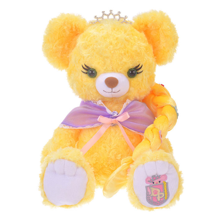日本迪士尼商店大學熊UniBearsity公主熊PrincessBear_魔法奇緣長髮公主樂佩正面