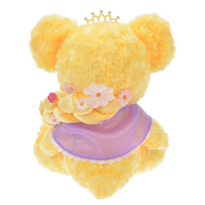 日本迪士尼商店大學熊UniBearsity公主熊PrincessBear_魔法奇緣長髮公主樂佩背面