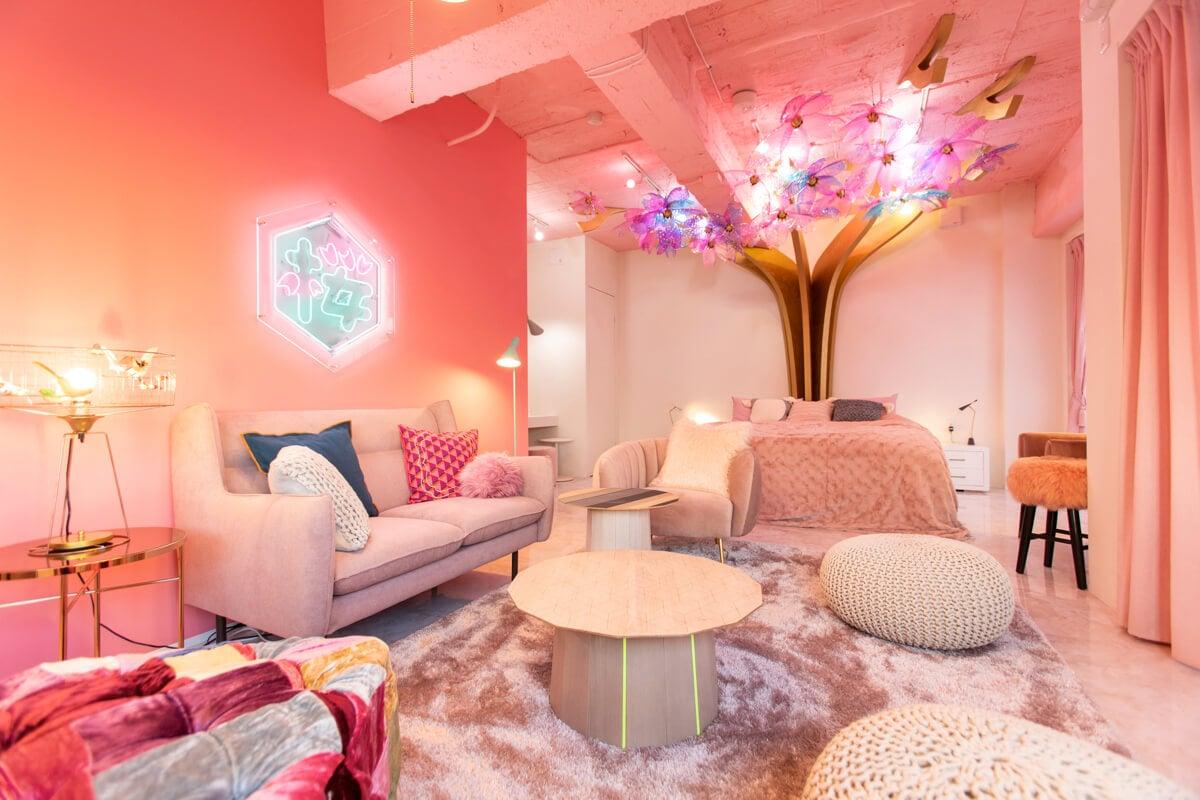 以「櫻花」為主題的住宿設施在東京原宿開幕!!MOSHI MOSHI ROOMS 「SAKURA」 在原宿、日本旅行、日本觀光、飯店、