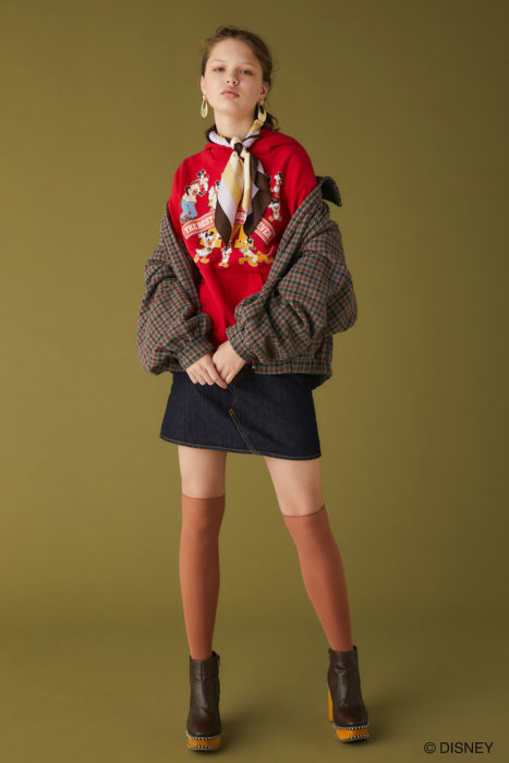 Disney SERIES CREATED by MOUSSY 5th collection 紅色連帽上衣