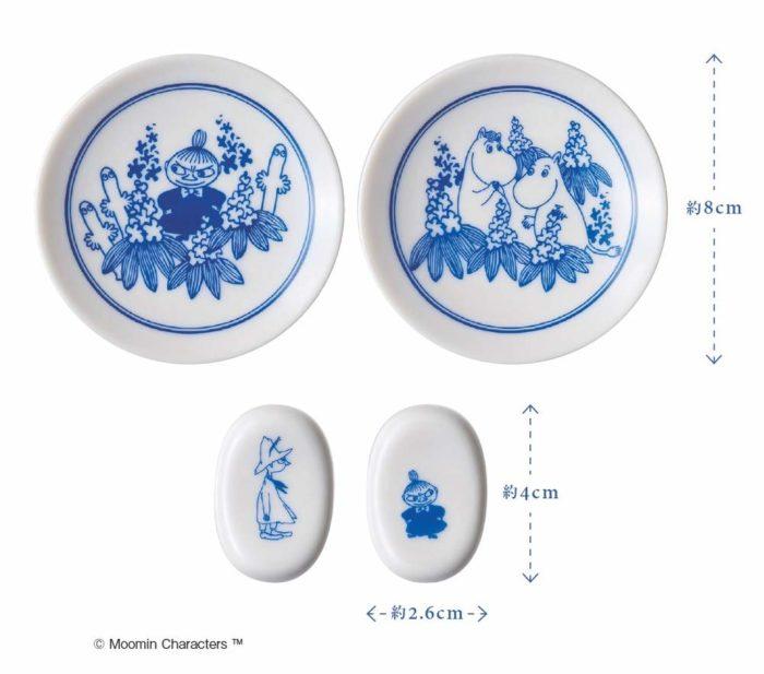 Moomin特製豆皿與筷架尺寸