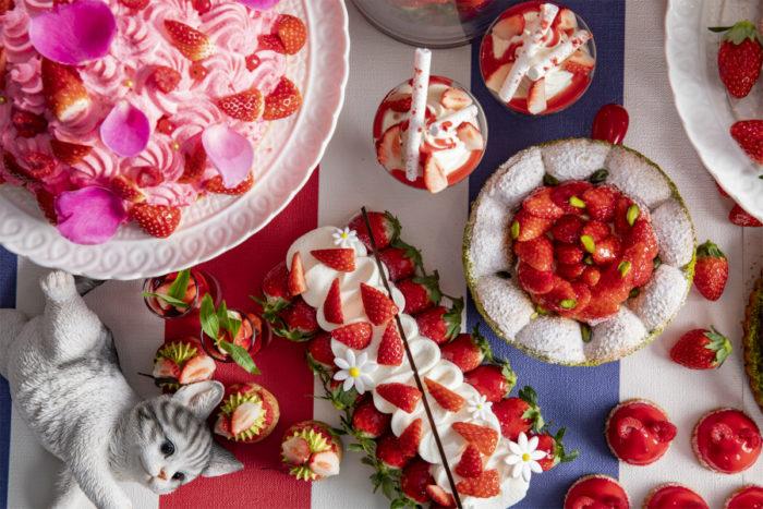 東京希爾頓貓咪主題草莓甜點吃到飽近照1