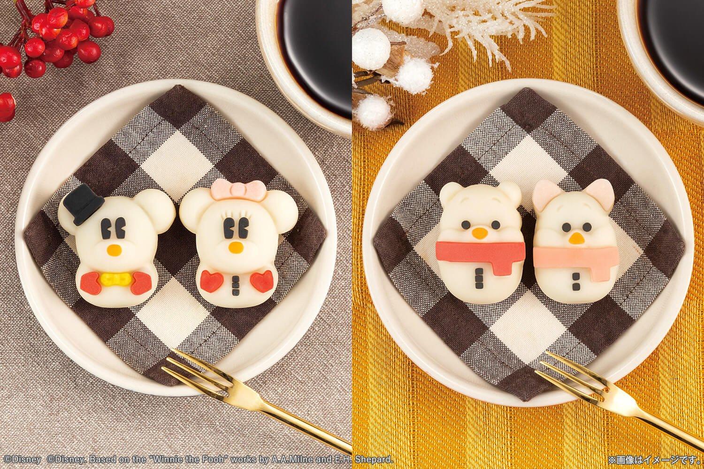 米奇&米妮、小熊維尼&小豬雪人和菓子「食べマス(可以吃的角色吉祥物)」發售 迪士尼、