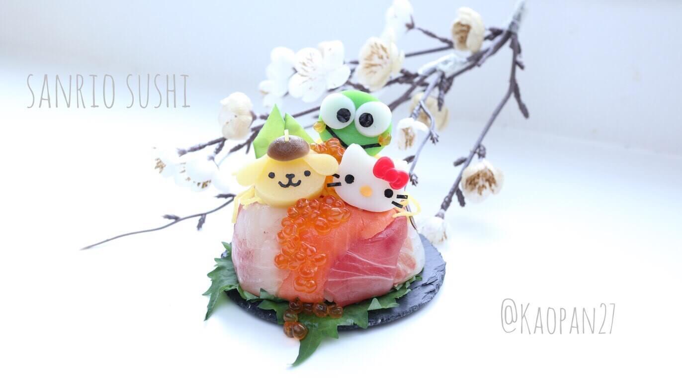 """超簡單的""""角色餐點""""食譜介紹!「三麗鷗角色壽司」 三麗鷗、食譜、"""
