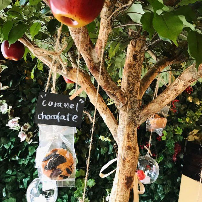 蘋果樹 上吊著許多馬芬