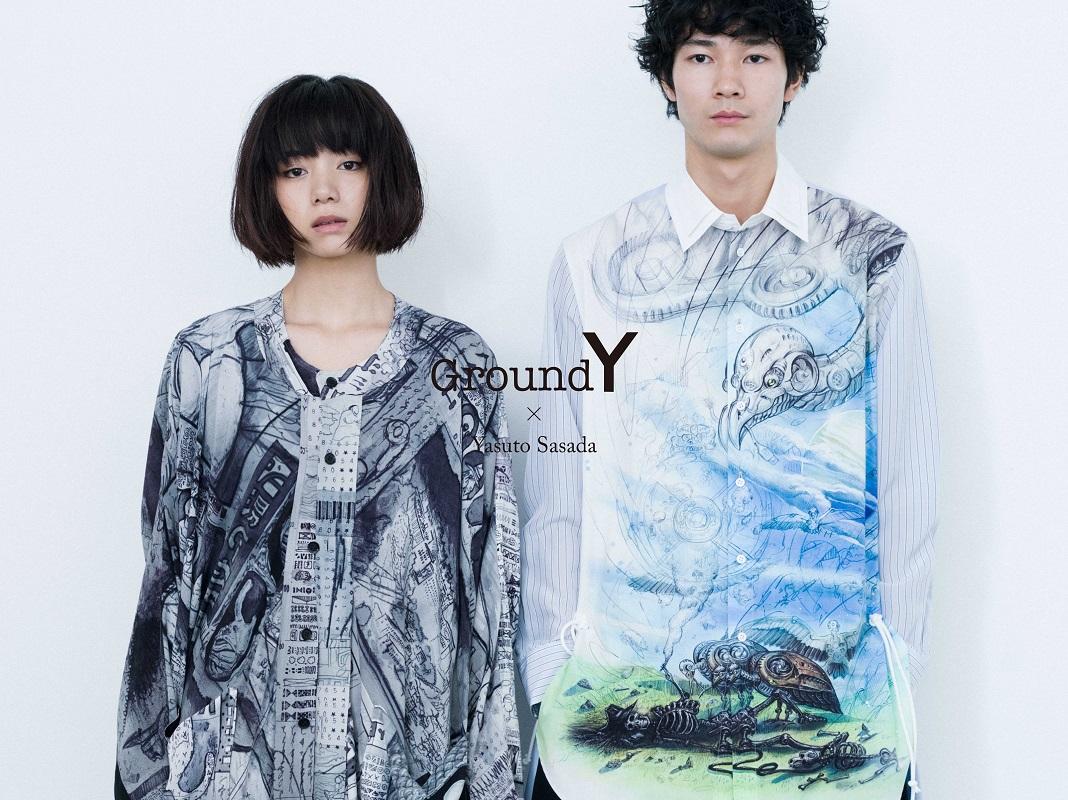 現代美術家笹田靖人與時尚品牌Ground Y的聯名合作發表 山本耀司、藝術、
