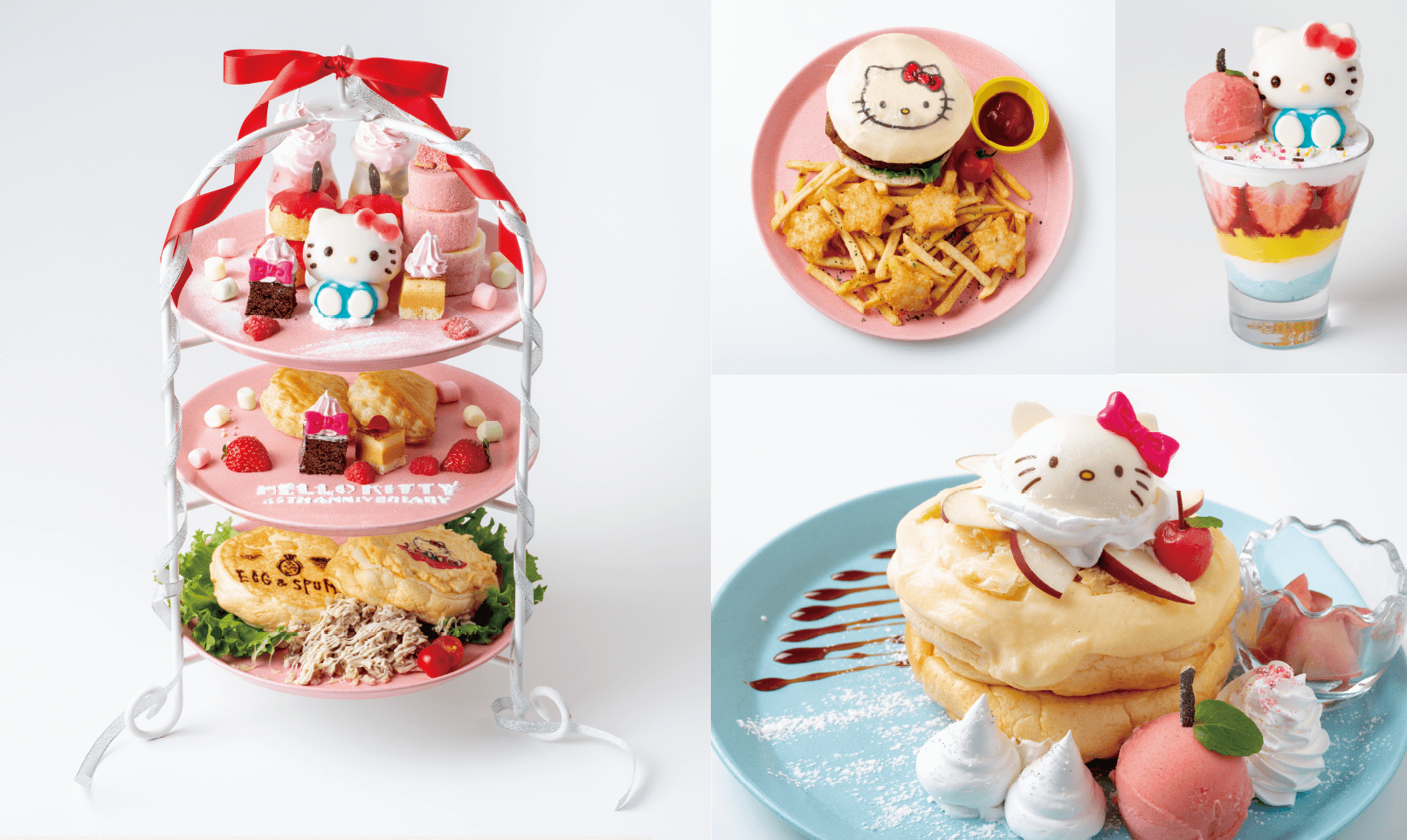 Hello Kitty誕生45週年記念協作咖啡廳於新宿 Lumine EST「EGG&SPUMA」舉行 凱蒂猫、合作、在新宿、