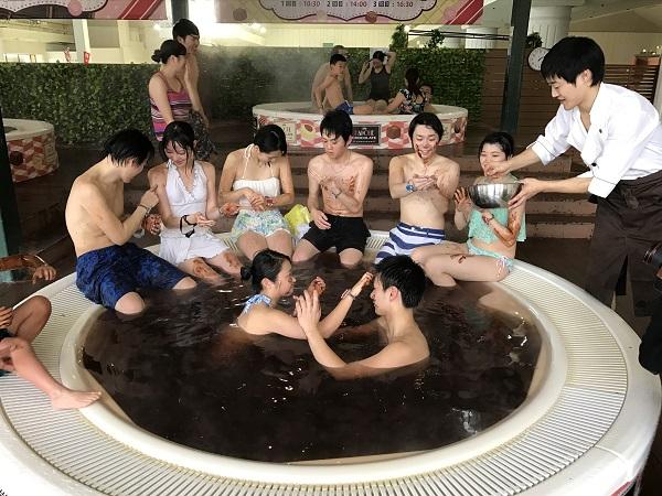 箱根小涌園「巧克力浴池」