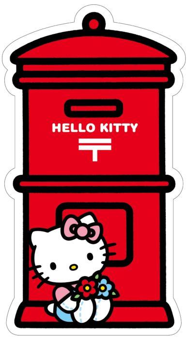 日本郵局HELLO KITTY郵筒明信片