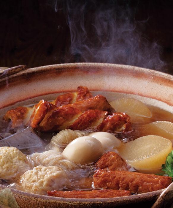 茅乃舍高湯由關東煮高湯製作的關東煮