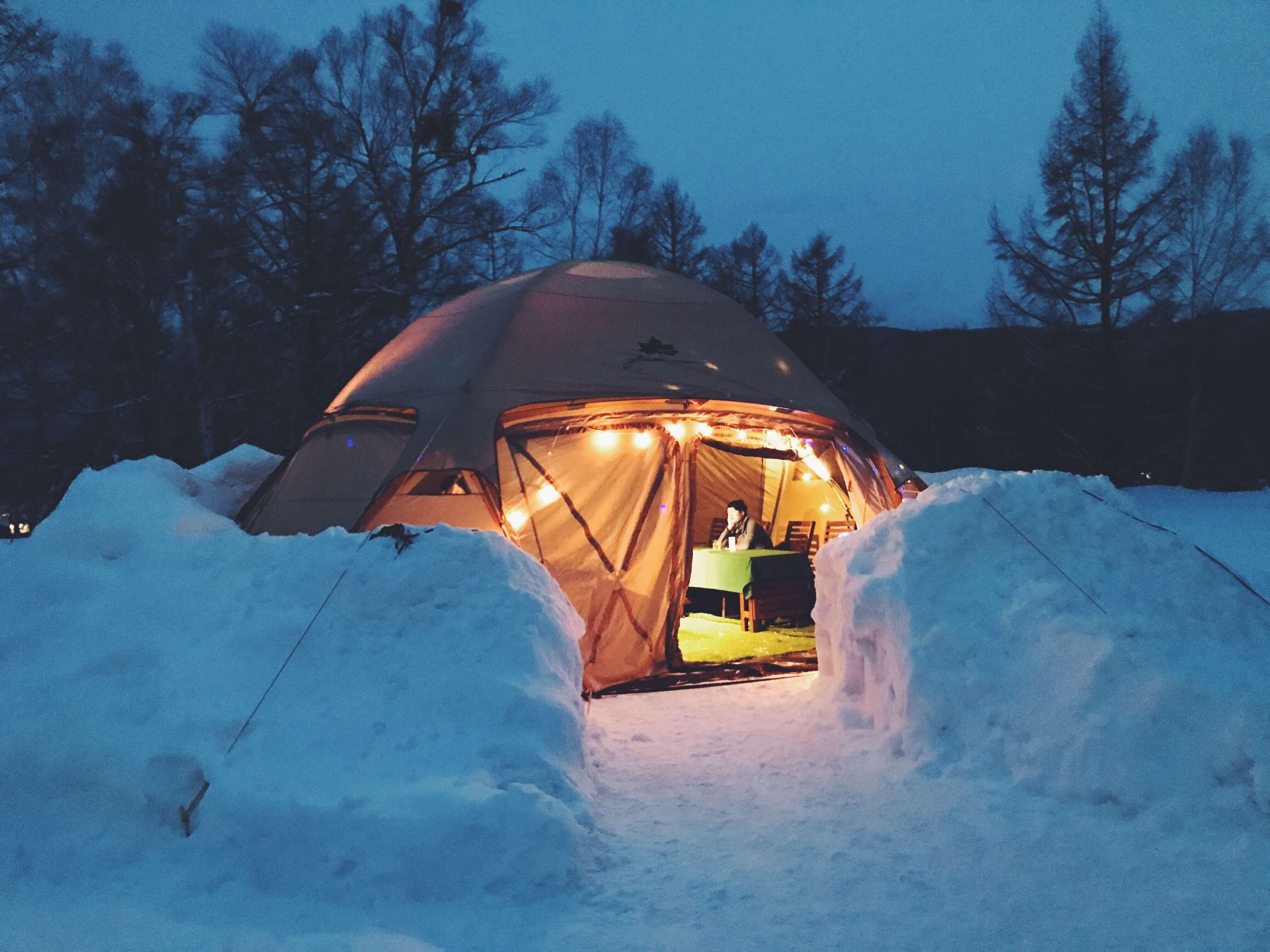 在信州開設週末限定的秘密小酒館! 享受帳篷「乗鞍(のりくら)冰雪EV小吃」 在長野、