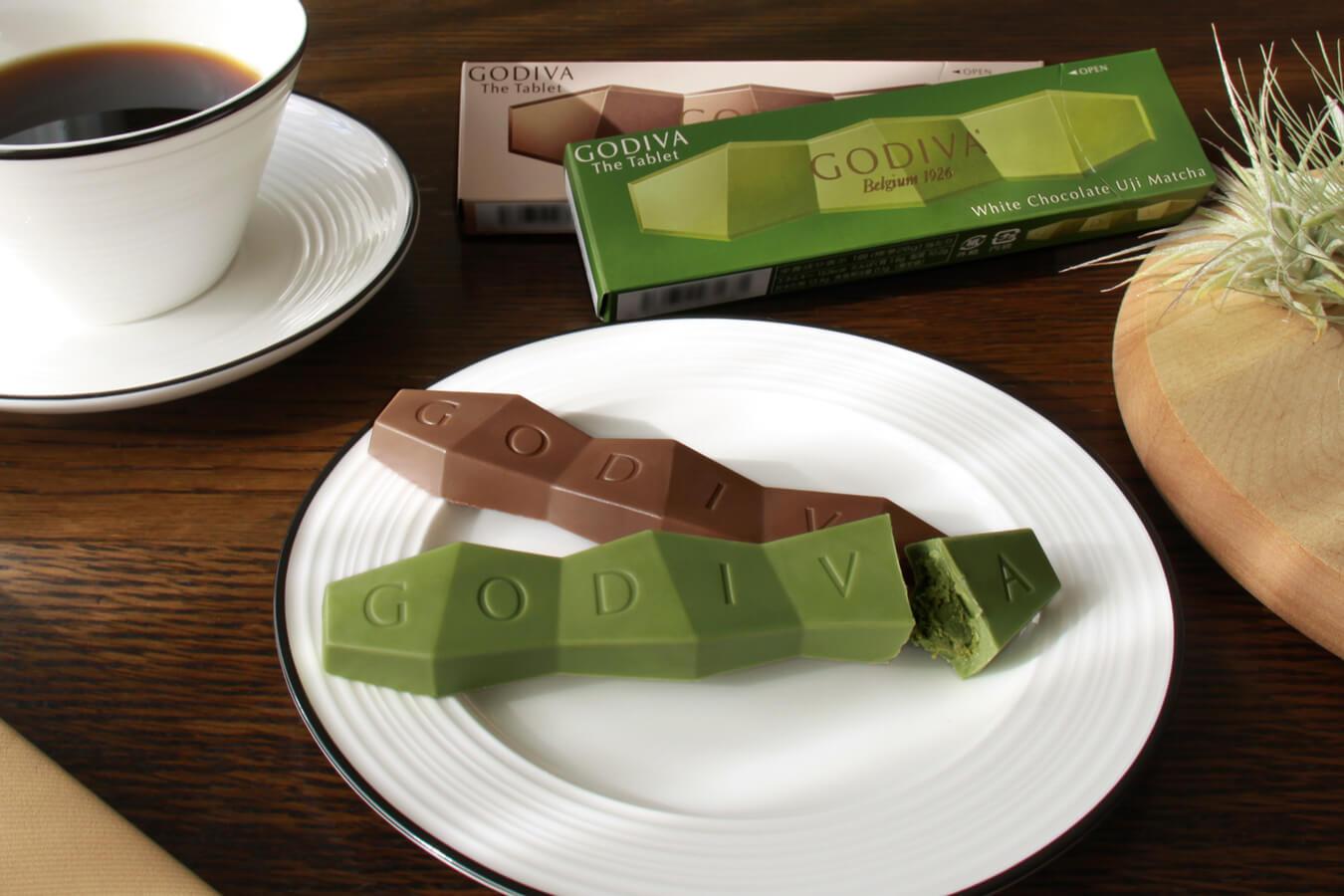 日本711「GODIVA The Tablet」白巧克力宇治抹茶味登場 抹茶_、