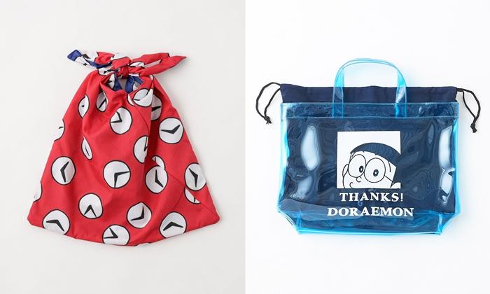 哆啦A夢 時光布側背包PVC 提袋