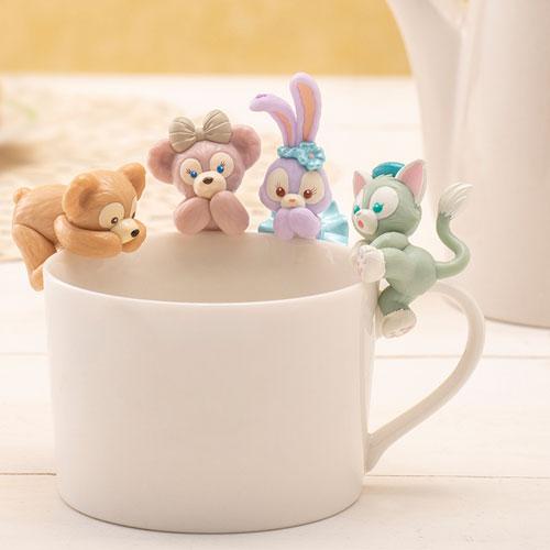 東京迪士尼海洋園區限定商品_達菲與他的好朋友們杯緣子_全系列4款正面