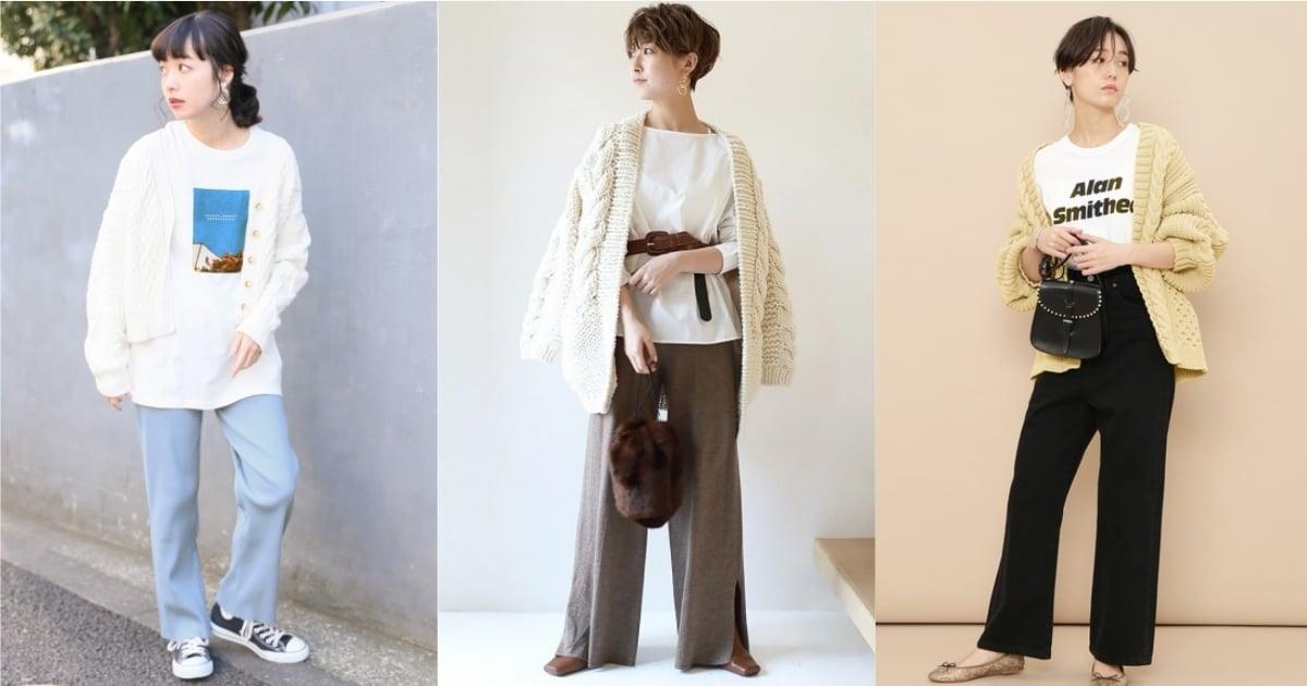 換季過渡期「針織罩衫」就是必須!看日本女生如何混搭長褲營造質感穿搭 針織、 罩衫、 穿搭、 日本
