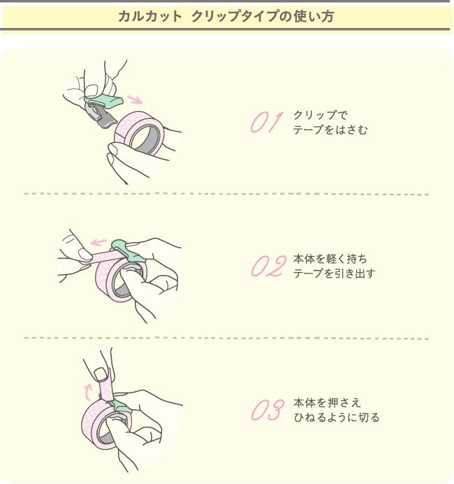 2019日本必買文具_kokuyo_karucut_cliptype-紙膠帶切割器使用方法