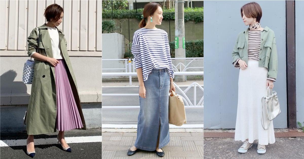 大人感長裙穿搭這樣完成!透過材質變換就能表現不同個性 長裙、 穿搭、 材質