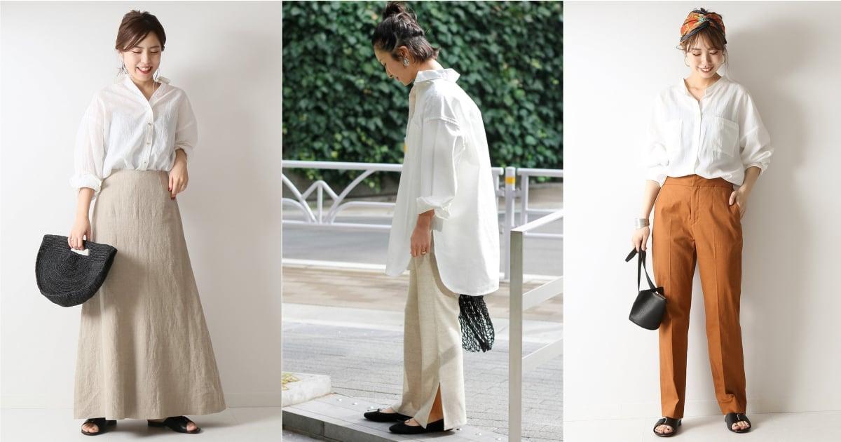 提問率超高的白襯衫穿搭!先參考日本女生百搭又實穿的造型技巧 襯衫、 穿搭、 襯衫穿搭、 造型