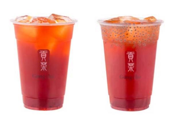 貢茶草莓紅茶