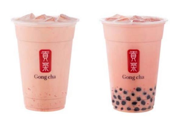 貢茶草莓奶茶