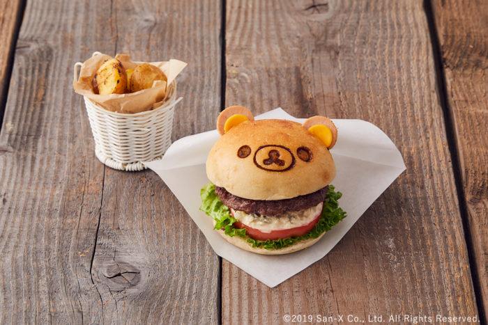 懶懶熊牛肉漢堡
