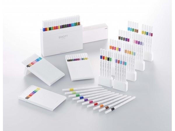 手帳控一定要包色!三菱鉛筆推出40色的時尚水性簽字筆「EMOTT」!