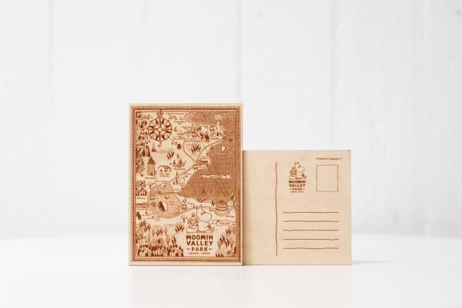 Moomin by Mozo嚕嚕米樂園限定紀念商品 木製明信片