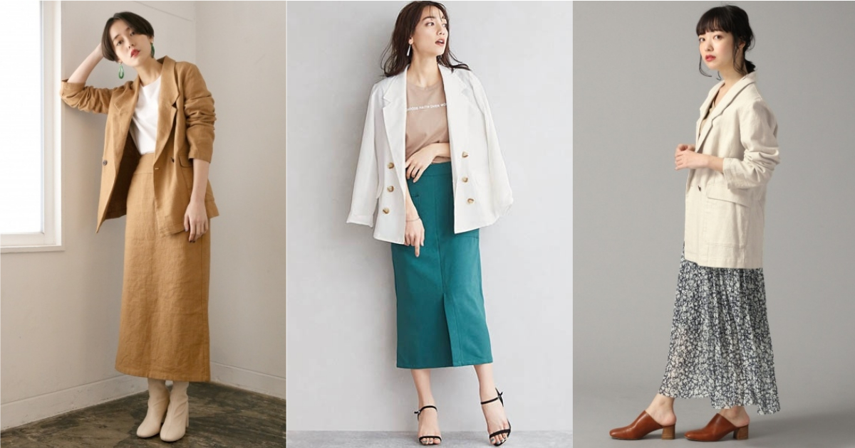 春末夏初就這樣營造率性輕甜氣息!西裝外套與 4 種裙裝的混搭風格參考