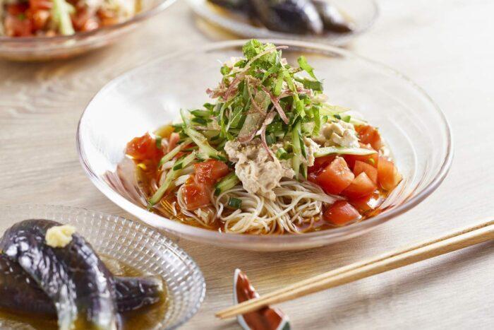 番茄鮪魚素麵